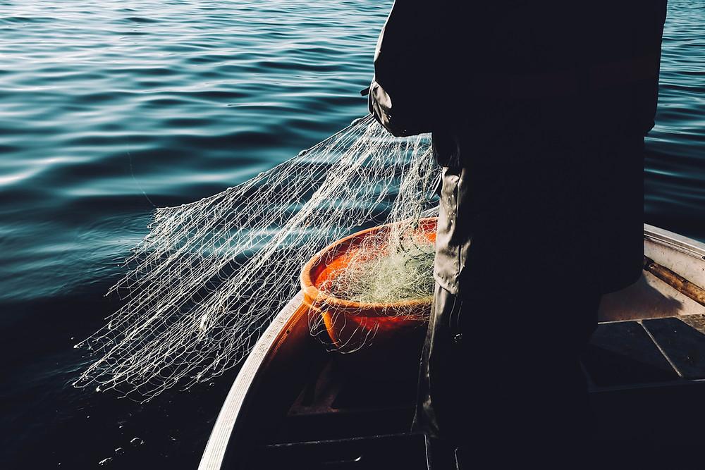 rede de pesca, mais um dos produtos que Delu Cabos de Aço fabrica. Conheça nossa linha