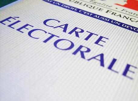 Carte d'électeur à retirer en mairie  ✉️📤
