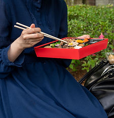 Woman with Bento Box