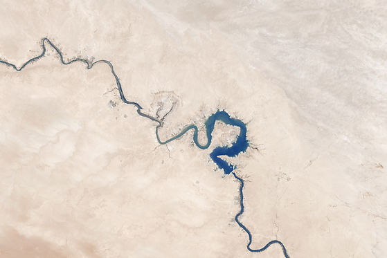 Aerial View of Curved River