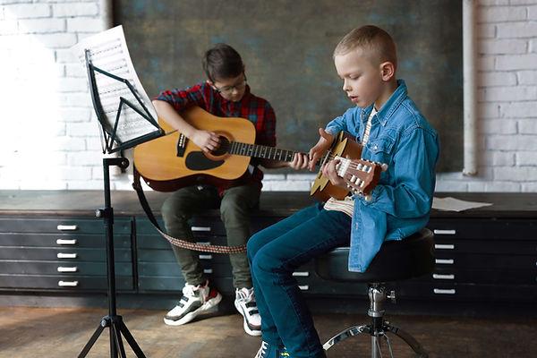 Boys in Guitar Class