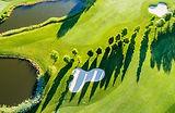 Vue aérienne du terrain de golf