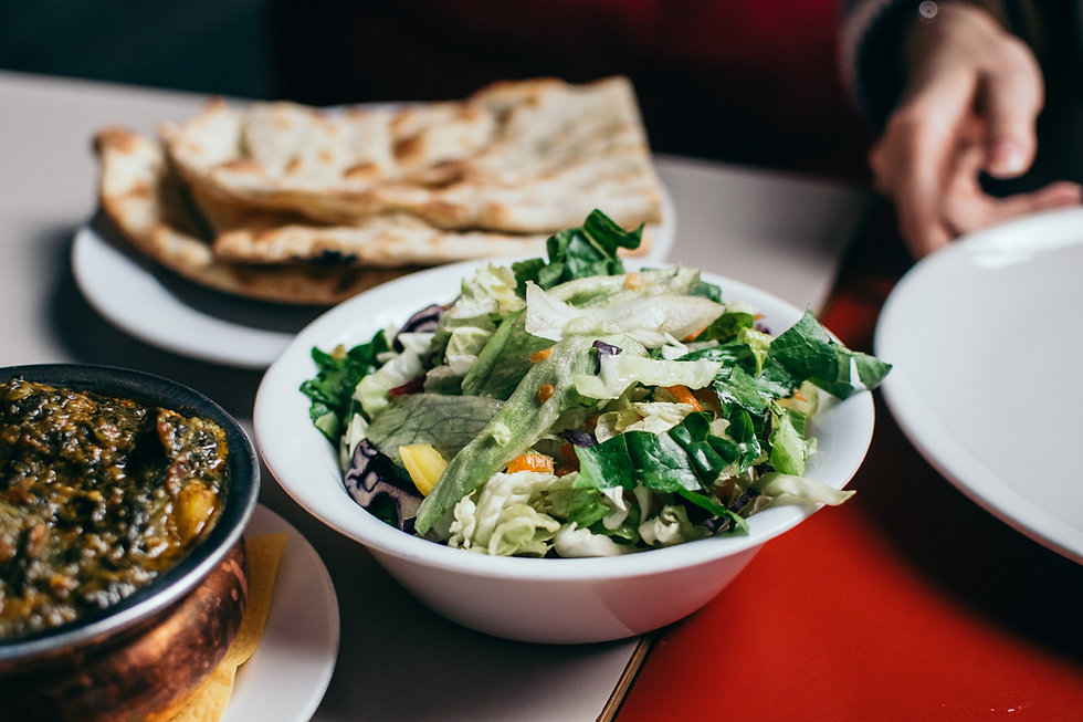 Salát zblízka