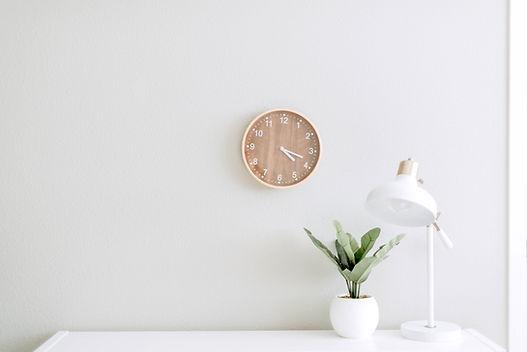 Horloge et plante