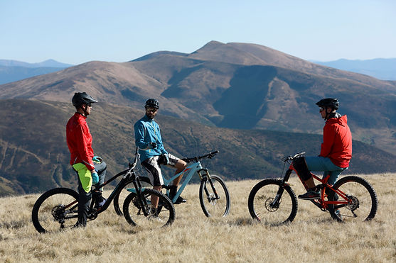 Group of Mountain Bikers
