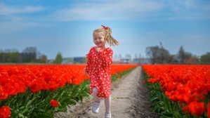 Walking Along Flowers