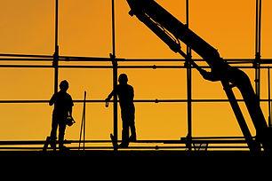 Trabajadores de la construcción silueta