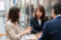 Reunião de café de negócios