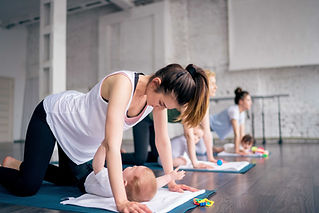 Practicing Yoga with Babies