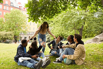 Teenagers in Park