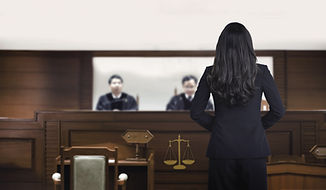 Witness In Courtroom