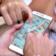 Leggendo la mappa sul cellulare