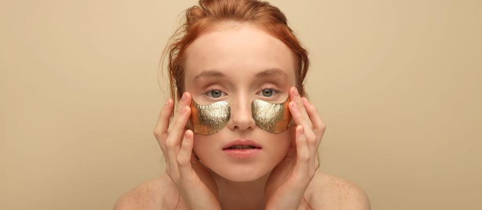 gold wrinkles, underye bags