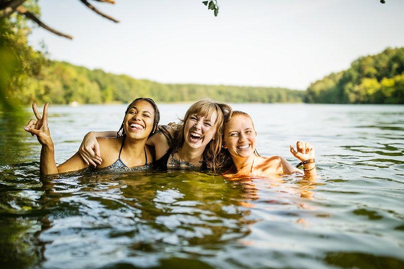 Schwimmen im See