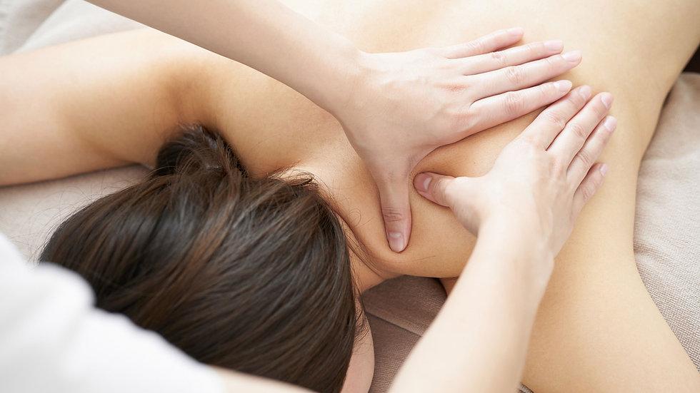 Massage du dos bien être