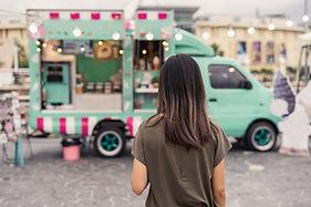 Retrato de carro de comida
