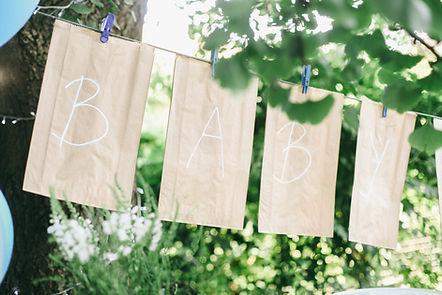 Baby dekoratives Zeichen