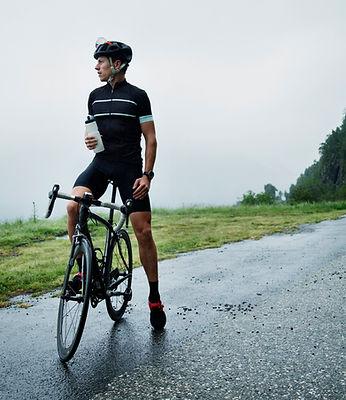 Männlicher Radfahrer