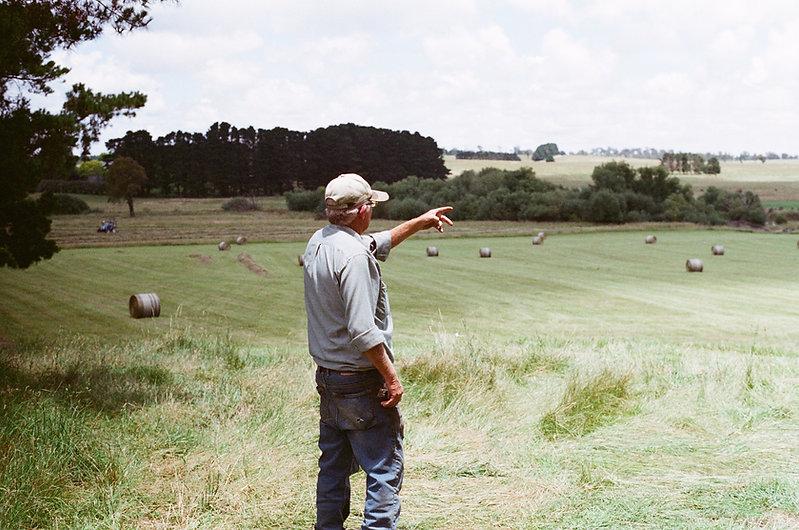 Homem, em, fazenda