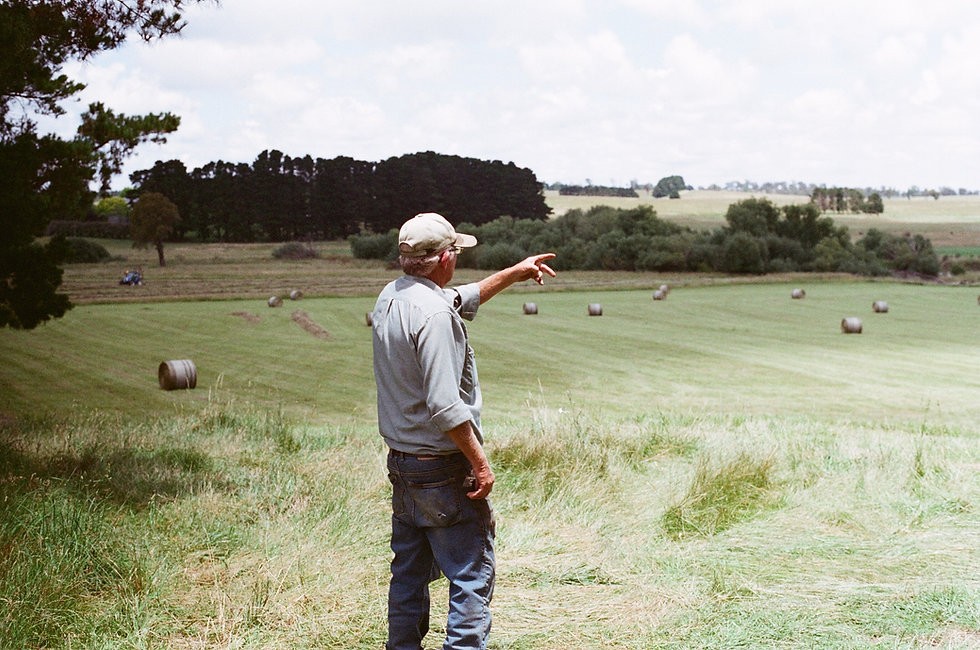 Muž na farmě