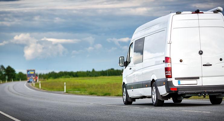 Weißer Van