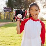 Girl Holding Baseball