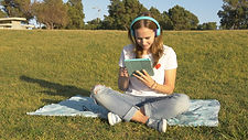Using Tablet at the Park