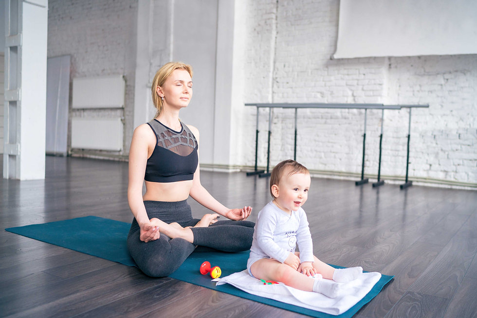 Meditating with Baby