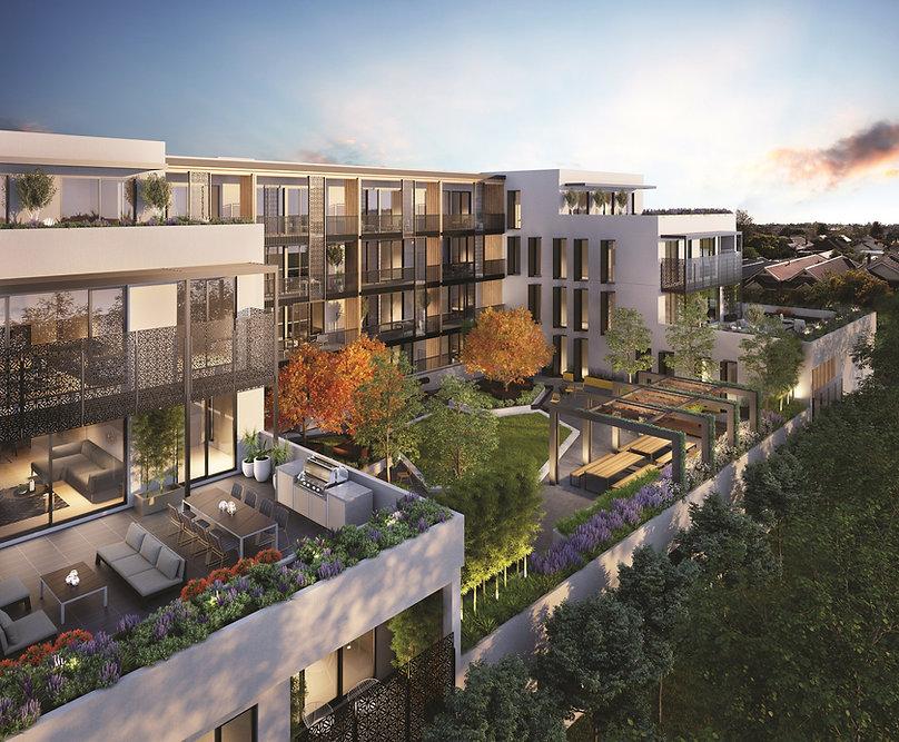 Complejo de viviendas modernas