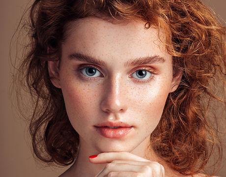Mode modell porträtt