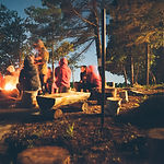 Sitting by Campfire