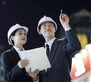 Engineers Pointing At Something