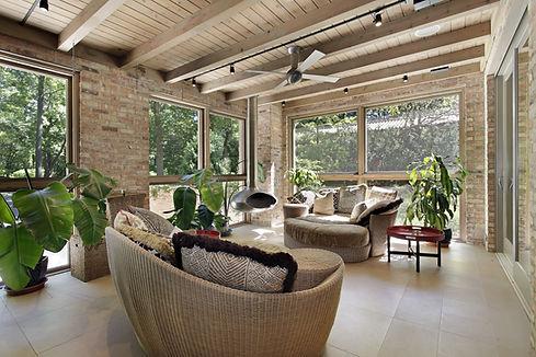 Sunroom with Wicker Furniture