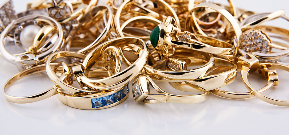 Pile of Golden Jewelry