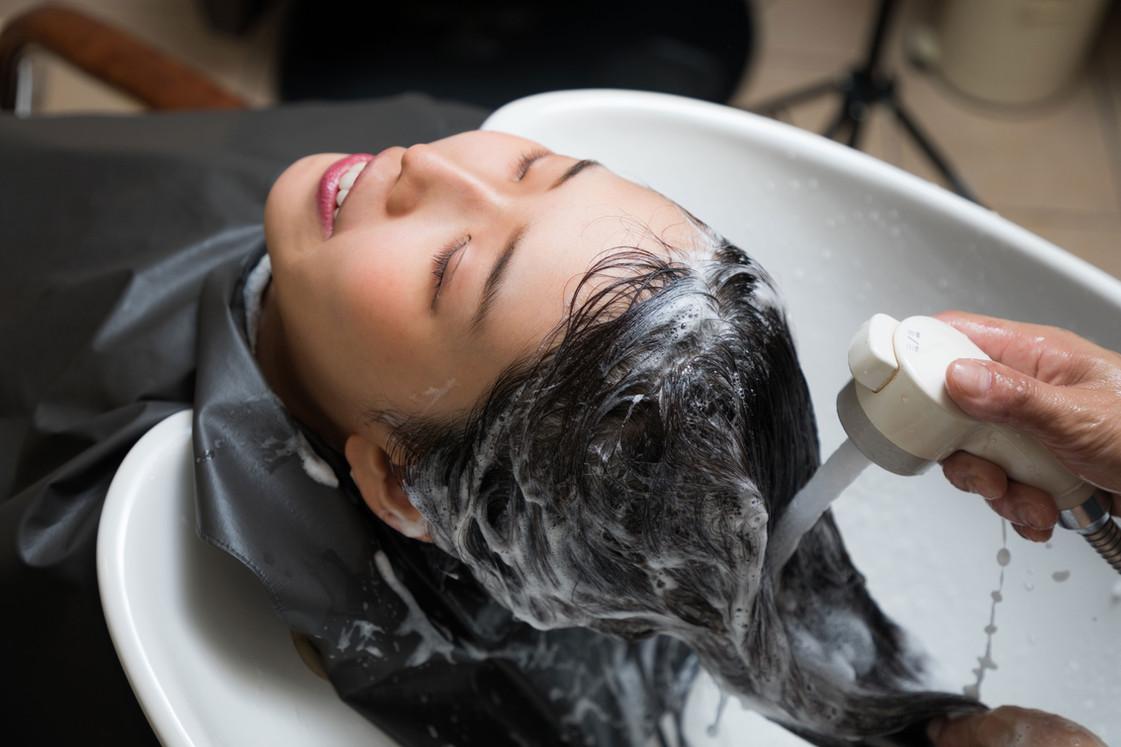 Salão de cabeleireiro Shampoo Wash