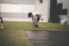 Boy in Gym Class