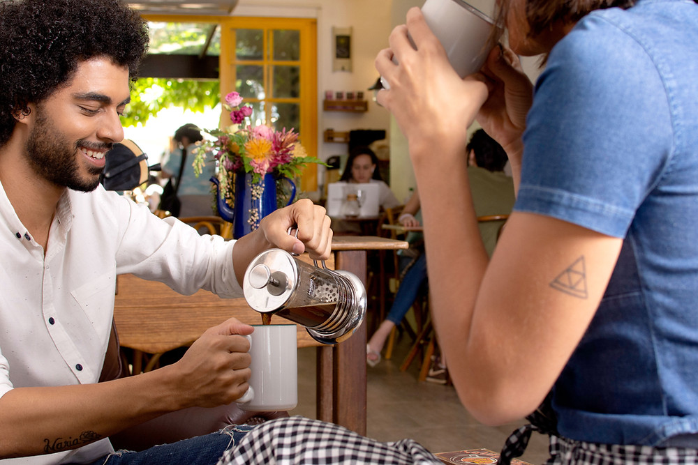 kawa świeżo palona frenchpress
