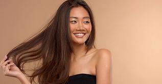 Modèle de cheveux bruns