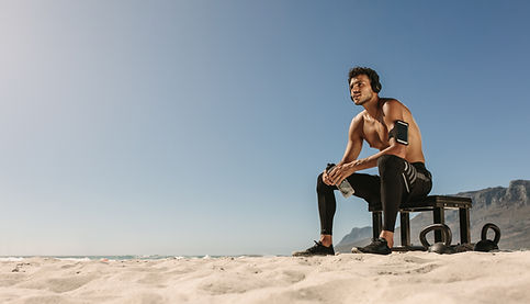 Fitness Trainer at the Beach