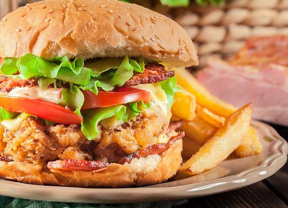 DIY Gourmet Chicken Burger (2 Medium Sized Burgers)
