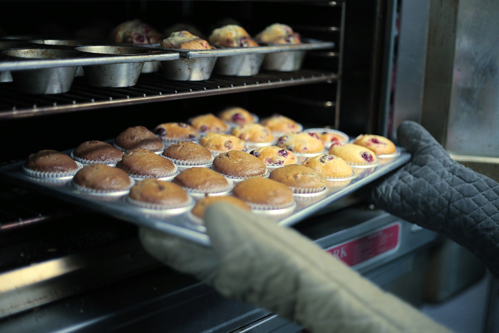 baking muffins is fun on cold winter days