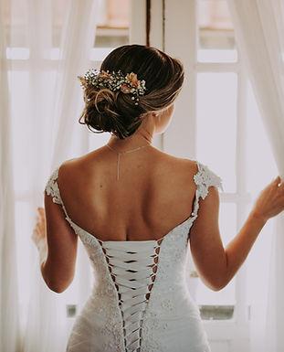 ウェディングドレスの裏