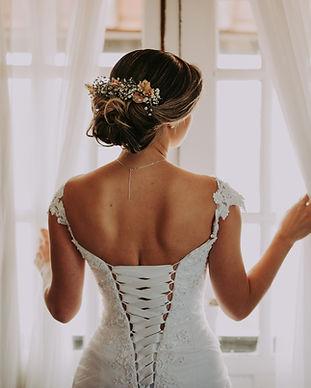 Retro del vestito da sposa