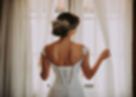 Achterkant trouwjurk
