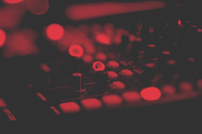 Pokrętła miksera dźwięku