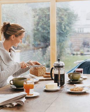 自宅での朝食
