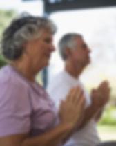 Senior Couple Meditating