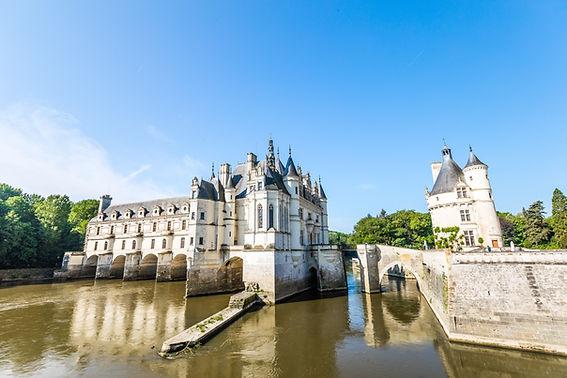 Château de Chenonceau entouré d'un ruiss