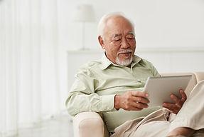 Homme, utilisation, tablette