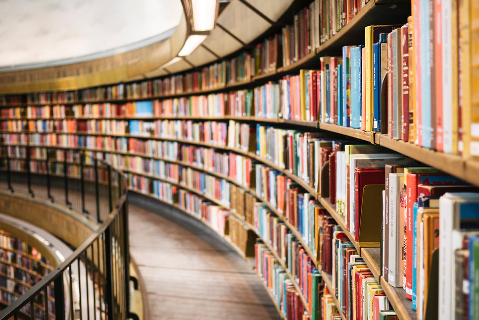Runde Bibliothek